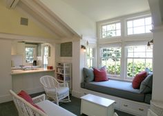 """Open floor plans with vaulted ceilings help ADUs """"live large""""."""