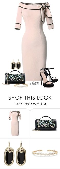 """Untitled #4167"" by christa72 ❤ liked on Polyvore featuring RED Valentino, Kendra Scott, Suzanne Kalan and Carvela Kurt Geiger"