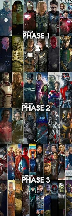 The Avengers 608971180853361592 - Marvel Universe 647181408928044165 – Marvel Cinematic Universe Phases Source by Norahlab Source by Marvel Dc Comics, Marvel Avengers, Marvel Films, Marvel Fan, Marvel Memes, Marvel Characters, Captain Marvel, Marvel Phase 3, Marvel Villains