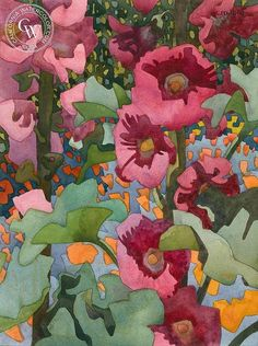 California Hollyhocks, California art by Carolyn Lord. HD giclee art prints for… Arches Watercolor Paper, Watercolor Flowers, Watercolor Paintings, Watercolors, Art Floral, Art Aquarelle, California Art, Art Prints For Sale, Gravure