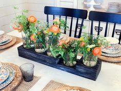 Domino shares decor advice from HGTV star Joanna Gaines, who creates beautiful spaces using calming neutral paint colors and cool metallic accents. Learn decor tips from Joanna Gaines on domino. Joanna Gaines Decor, Chip And Joanna Gaines, Cute Dorm Rooms, Cool Rooms, Farmhouse Side Table, Rustic Farmhouse, Farmhouse Style, A Thoughtful Place, Home Look