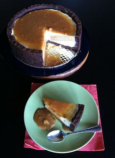 Cheesecake alla vaniglia con caramello al sale