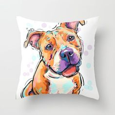 Buy Pit bull love by Cartoon Your Memories as a high quality Throw Pillow. Worldwide shipping available at Society6.com. Just one of millions of products…: