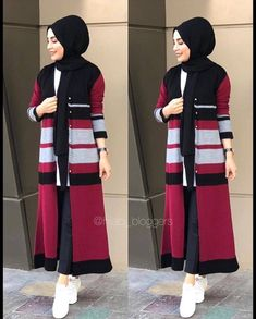 Modern Hijab Fashion, Hijab Fashion Inspiration, Islamic Fashion, Muslim Fashion, Hijab Style Dress, Hijab Chic, Hijab Outfit, New Model Abaya, Fashion Illustration Dresses