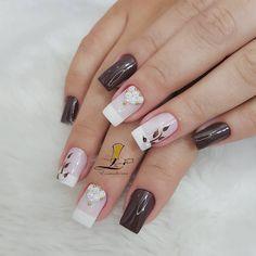 Unhas Decoradas para Madrinha de Casamento e Batizado Love Nails, Fun Nails, Pretty Nails, Nail Arts, Nails Inspiration, Nail Art Designs, Jelsa, How To Make, Beauty