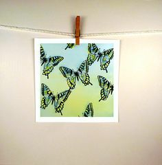 """ART PIECES ~~ """"Butterfly Watercolor Painting Print"""" Butterflies Animal by LaBerge,+$30.00. Etsy.com @Etsy"""