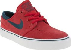 Nike SB Red Stefan Janoski Unisex Youth Deck out your little skater with the slickest of kicks as the Nike SB Stefan Janoski arrives downsized for kids. Dressed in durable red suede, this iconic profile features embroidered branding, along  http://www.comparestoreprices.co.uk/january-2017-8/nike-sb-red-stefan-janoski-unisex-youth.asp