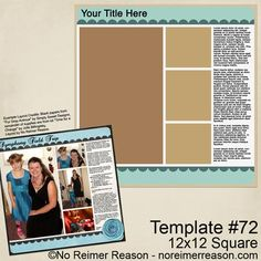 FREE Download - Digital Template from No Reimer Reason