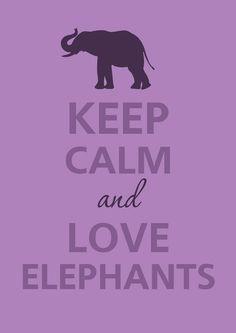 Keep calm and love elephants