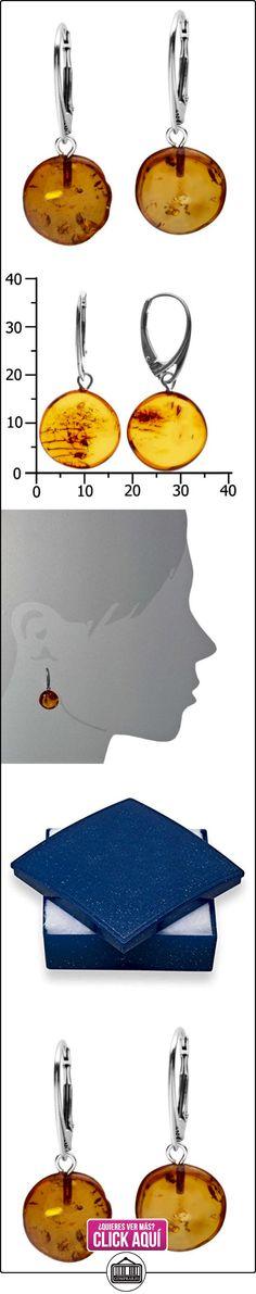 InCollections - Pendientes de plata de ley con ámbar con cierre de palanca  ✿ Joyas para mujer - Las mejores ofertas ✿ ▬► Ver oferta: http://comprar.io/goto/B008LT5TFS