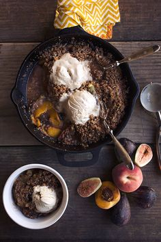 Paleo Peach Crumble (nut free) - save the recipe for the fall/winter and substitute apples for the peaches!