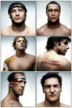 Boys play football. Men play rugby