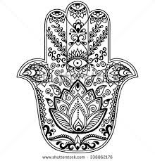 Resultado de imagen de hamsa coloring page for adults