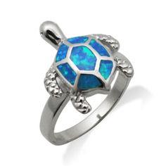 Turtle Blue Opal Ring