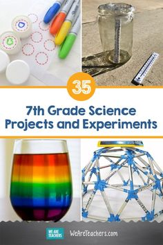 25 of the Best Grade Science Projects and Experiments 35 of the Best Grade Science Projects and Experiments. Middle schoolers love to get hands-on with science. Try these grade science experiments involving physics, chemistry, engineering, and much more. 7th Grade Science Projects, Middle School Science Projects, School Science Experiments, Science Lessons, Science For Kids, Science Activities, Engineering Science Fair Projects, Physics Science Fair Projects, Chemistry Projects
