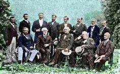 Robert E. Lee and former Confederate generals met in 1869.