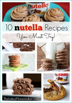 A roundup of 10 AMAZING Nutella recipes that you must try. Find a delicious recipe or two and enjoy!