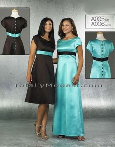 Love the left. With a dark blue sash it would be gorgeous for a bridesmaid dress!
