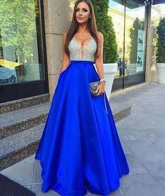 Sparkly Prom Dress, Royal Blue Long Prom Dress, 2018 Beads Long Prom Dress Evening Dress These 2020 prom dresses include everything from sophisticated long prom gowns to short party dresses for prom. Royal Blue Prom Dresses, Elegant Prom Dresses, Prom Dresses 2017, Beaded Prom Dress, Backless Prom Dresses, Formal Dresses For Women, Cheap Prom Dresses, Sexy Dresses, Party Dresses
