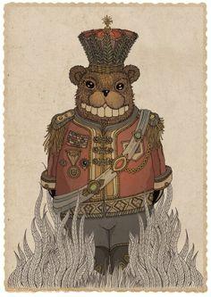 The Mole Bear Wars by Ree Treweek, via Behance