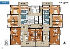 Condo Floor Plans, Hotel Floor Plan, Apartment Projects, Apartment Plans, Apartment Design, Double House, Architectural House Plans, Flat Plan, Building Layout