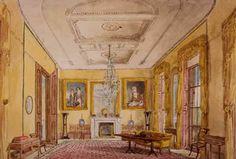 Chpt 4: Drawing room, at No. 13, Lincoln's Inn Fields, 1812–1813; London, England; Sir John Soane. English Regency.
