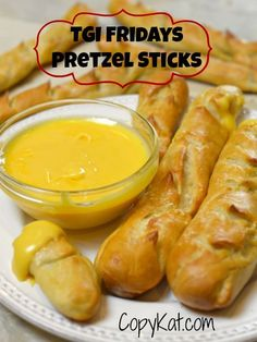 TGI Fridays Pretzel Sticks and Beer cheese sauce - make this bar classic at home.