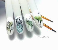 Aqua Nails, Matte Nails, Gel Nails, Nail Art Designs Videos, Nail Designs, Uñas Diy, Water Color Nails, Almond Nail Art, Nail Stencils