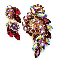 Juliana DeLizza and Elster Red Aurora by AgedandOpulentJewels, $93.00