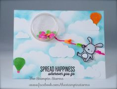 Mama Elephant Up and Away Shaker Card