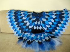 Adult or Teen Bird Costume - Wings, Top, and Skirt