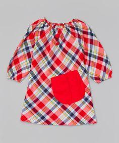 Красный плед Карманный Крестьянское платье - Малыш и девушки