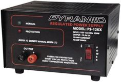 Pyramid PS12KX 12 Amp 13.8V Power Supply by Sound Around. $51.51. The PS12KX is perfect for home, shop and hobbyist. It powers 12V DC Devices such as Cellular Phones, CB Radios, Scanners, HAM Radios, Auto sound Systems,etc. The built-in cooling fan keeps everything cool and the power flowing. With crowbar over voltage protection and short circuit & thermal protection this is the safest way to get impressive amounts of power.