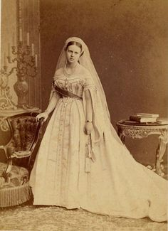 The Grand Duchess Marie Alexandrovna (Her Imperial and Royal Highness, the Duchess of Edinburgh) did not age very well as she added weight to her face and upper body.  Here we see her as the young and fresh Grand Duchess that so charmed Prince Alfred of Edinburgh, the  Prince of Saxe-Coburg and Gotha.