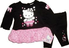 Sanrio Hello Kitty Baby Girls Dress Leggings Jacket Pants CAT Kitten Long Sleeve   eBay