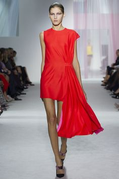 Dior S RTW13,   Two Tone: Fire Red and Hot Pink lining