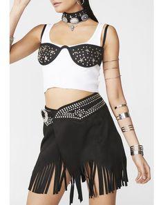 9f2dcea4f5d Club Exx. Dust Frenzy Studded Skirt  dollskill  clubexx  festival  coachella   cowgirl ...