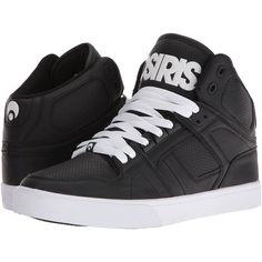 Osiris NYC83 VLC (Black/White/White) Men's Skate Shoes ($60) ❤ liked on Polyvore featuring men's fashion, men's shoes, men's sneakers, mens white and black dress shoes, mens shoes, mens white sneakers, mens white shoes and mens skate shoes