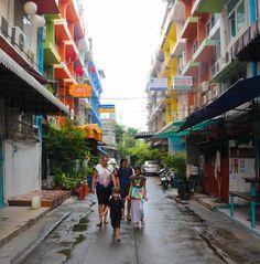 Walking Back To Our Apartment in Bangkok Bangkok, Family Travel, Travelling, Budgeting, Thailand, Walking, Street View, Family Trips, Budget Organization