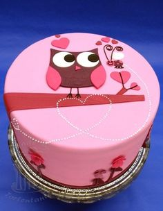 Owl love  Cake by Tortentante Pink Hoot Owl Cake Owl Cake — Children's Birthday Cakes party Girl Boys Kid Kids