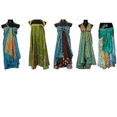 Magic wrap skirt How to Tie(Instructions) - Video - Nähen für mich - Best Skirt Convertible Clothing, Convertible Dress, The Dress, Dress Skirt, Wrap Dress, Tie Skirt, Silk Wrap, Lookbook, Diy Clothing