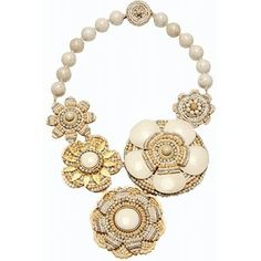Miriam Haskell - Large Beaded Flower Necklace