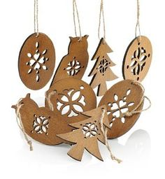 Laser Cut Wooden Christmas Tree Decorations