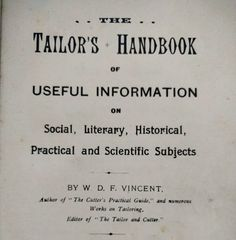The Tailor's Handbook of Useful Information