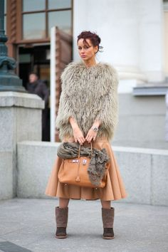 Freezing but fashionable: winter outfit inspo straight from Russia.