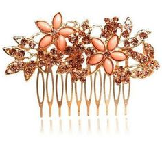Rose gold hair slide - Check out this item in my Etsy shop https://www.etsy.com/uk/listing/288155769/wedding-hair-slide-jewellery-comb-rose