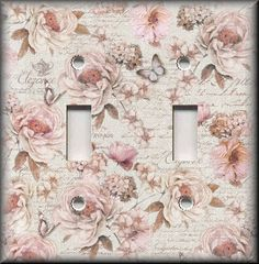 Switch Plates And Outlets - Romantic Pink Roses - Floral Home Decor
