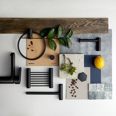 HEID Interior Design and Bathroom Butler have created a new mood board that highlights matte black bathroom accessories.