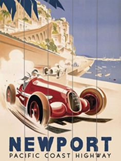 Geo Ham - 1937 monaco grand prix race - love this retro poster Art Posters Uk, Car Posters, Poster Prints, Old Poster, Retro Poster, Vintage Wood Signs, Pub Vintage, Vintage Racing, Vintage Labels