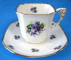 This is a Shelley China, England tea cup and saucer made between 1963-1966 in…